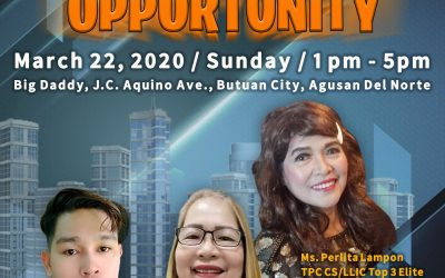 Talk About Opportunity on march 22, 2020 with Top Caliber Coach and Speaker Mr. Johnmen Tubongbanua