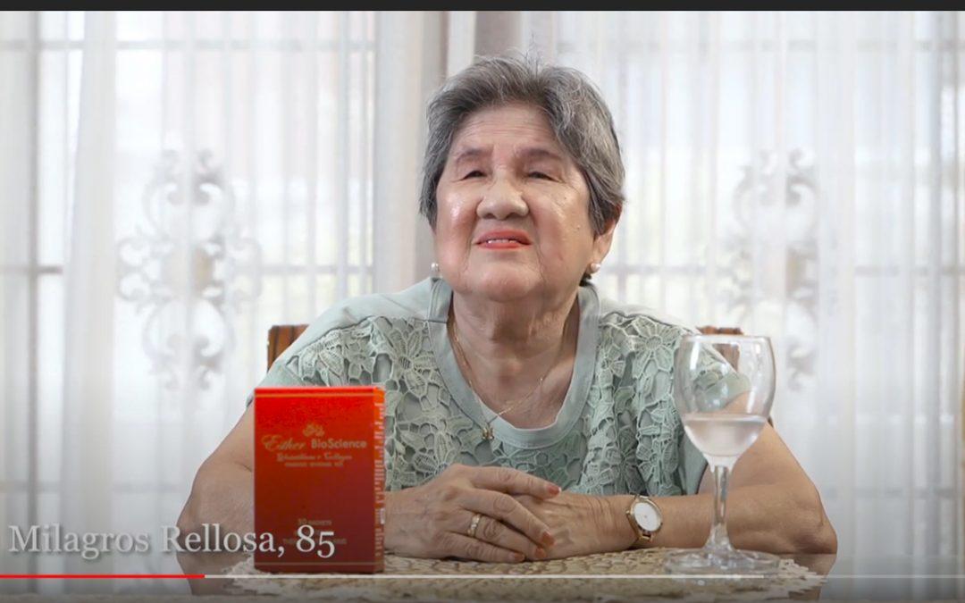 Lueur Lauren Glutathione plus Collagen Drink of Mommy Milagros Rellosa Testimonial