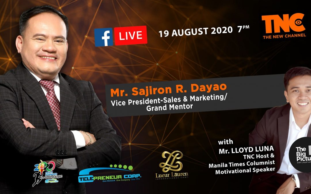 TNC's Lloyd Luna featuring our LLIC Vice President for Sales and Marketing, Mr. Sajiron Dayao