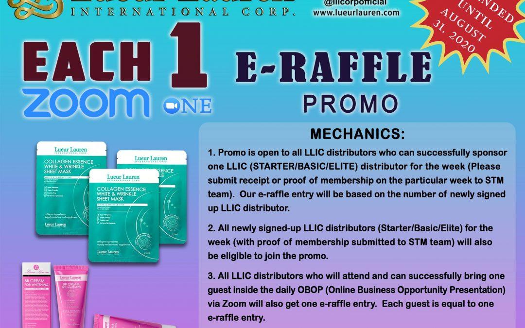 Each One Zoom One E – Raffle Promo
