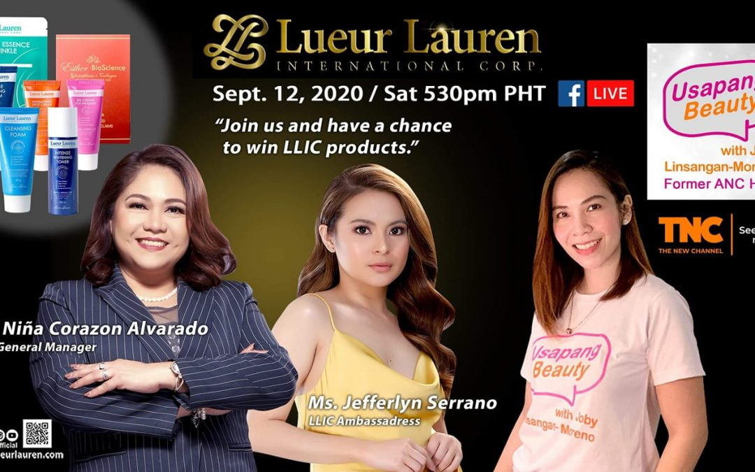Lueur Lauren Exclusive Interview in Usapang Beauty with Joby Linsangan-Moreno