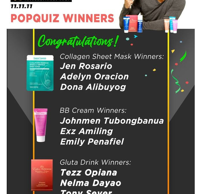 Congratulations again to the winners of our pop quiz segment during our PressCon last November 11, 2020