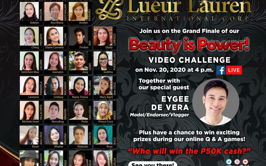 Beauty is Power video challenge grand finale, November 20, 2020
