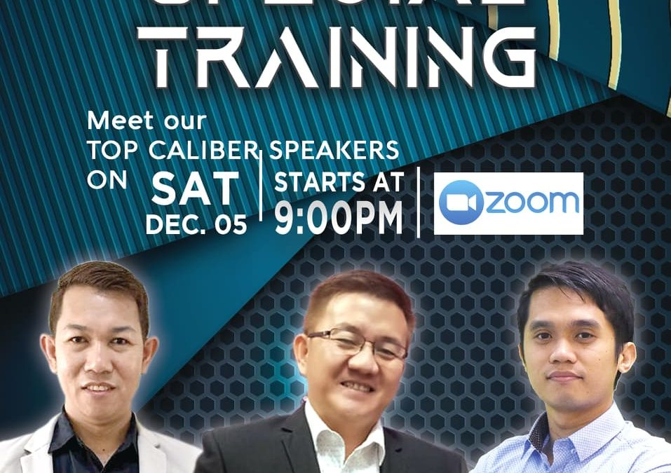 Special Training via Zoom With Coach Jhun Pareja, Daniel James and Rommel Intacto