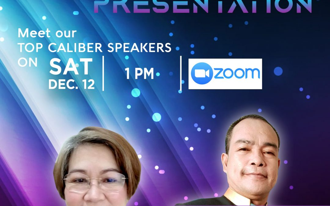 Business Opportunity Presentation on December 12, 2020 with Mr. Hernan Quinones and Top LLIC Elite Performer Ms. Emily Peñafiel