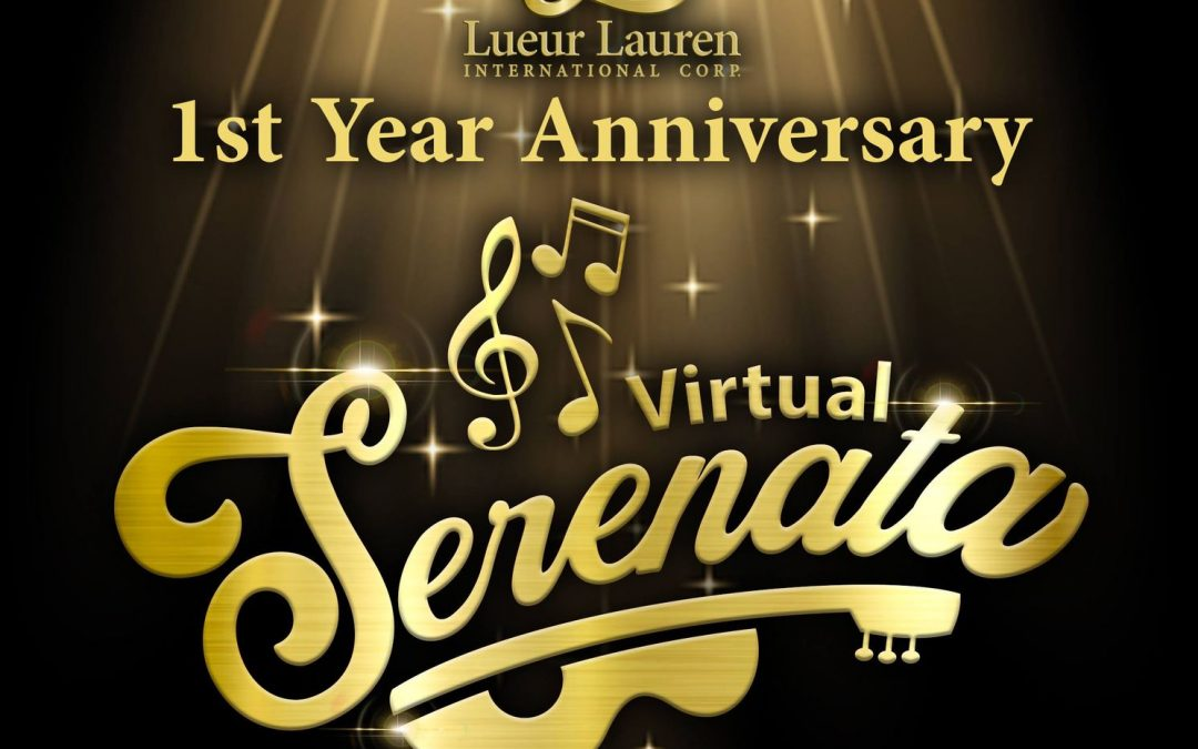 Inviting all of you for our 1st Year Anniversary Virtual Serenata with our official LLIC Vloggers