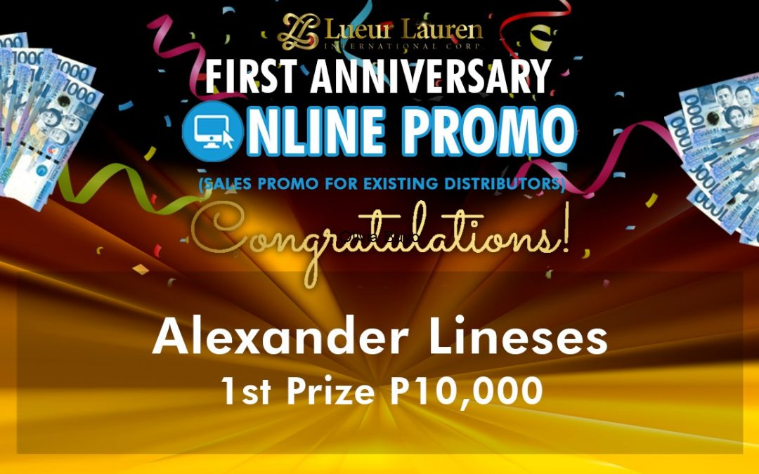 """Here are the Top 5 winners in our LLIC's """"First Year Anniversary Online Promo""""!"""