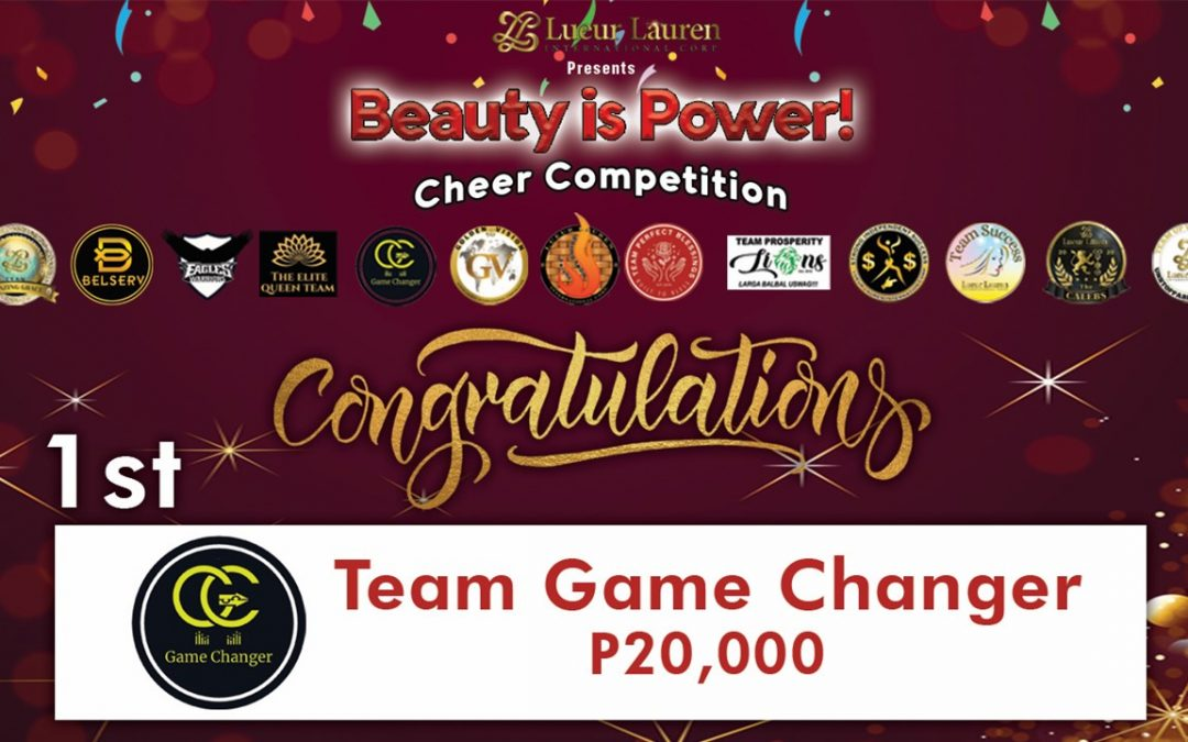 Congratulations to all the teams who joined our First Year Anniversary's Beauty is Power Team Cheer contest.