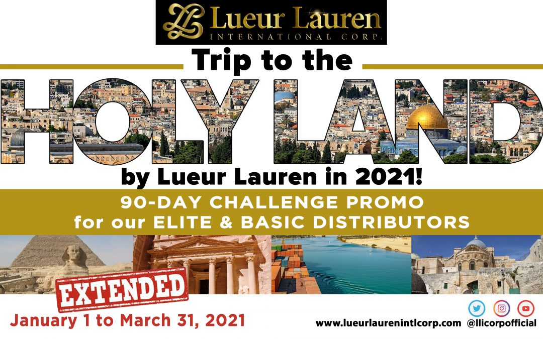 Reminding you all about our much coveted TRAVEL PROMO OF THE YEAR which we extended from January 1, 2021 to March 31, 2021!