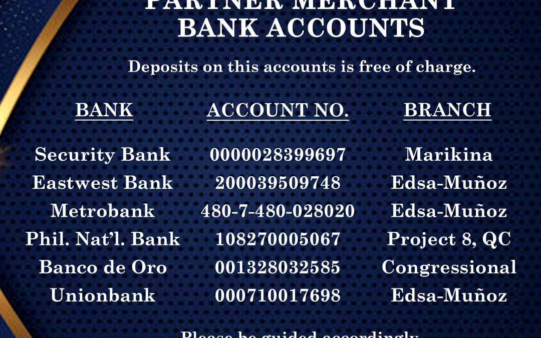 This is to reiterate that we now have a NEW PARTNER MERCHANT BANK ACCOUNT, UNIONBANK!