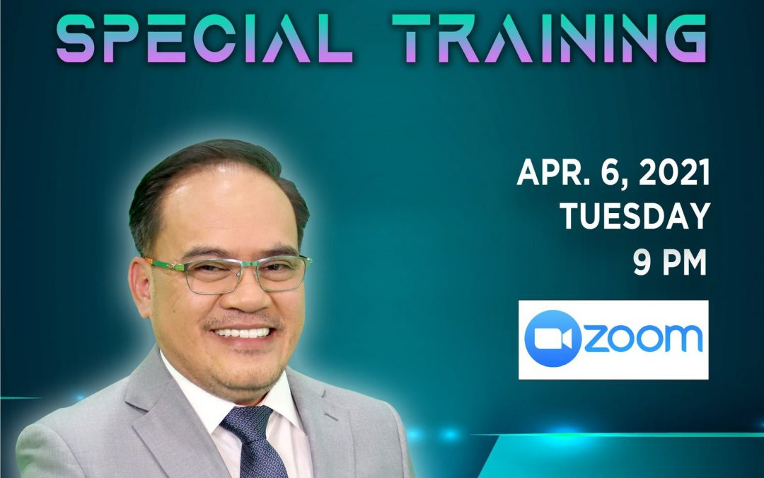 Exclusive live SPECIAL TRAINING and let us all listen as our very own Grand Mentor, LLIC Vice President for Sales & Marketing, Mr. Sajiron Lusanto R. Dayao