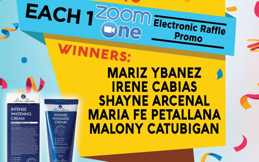 Congratulations to the winners of our Each One Zoom One Promo!
