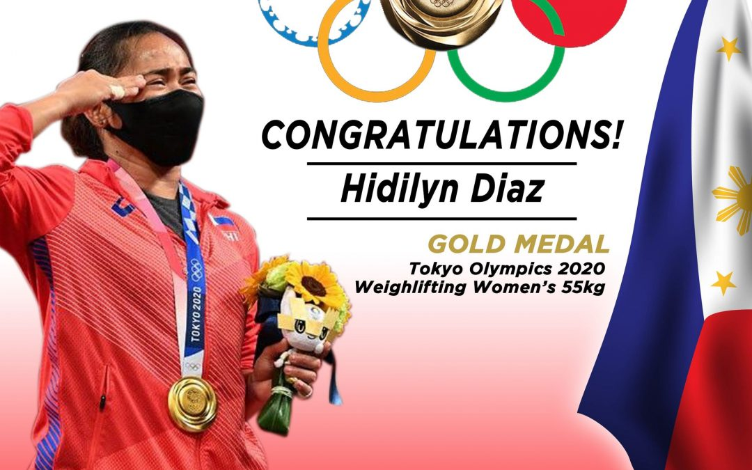 LLIC proudly congratulates our very first Olympic Gold Medalist, Ms. Hidilyn Diaz for winning the weightlifting women's category in the Tokyo Olympics 2020!