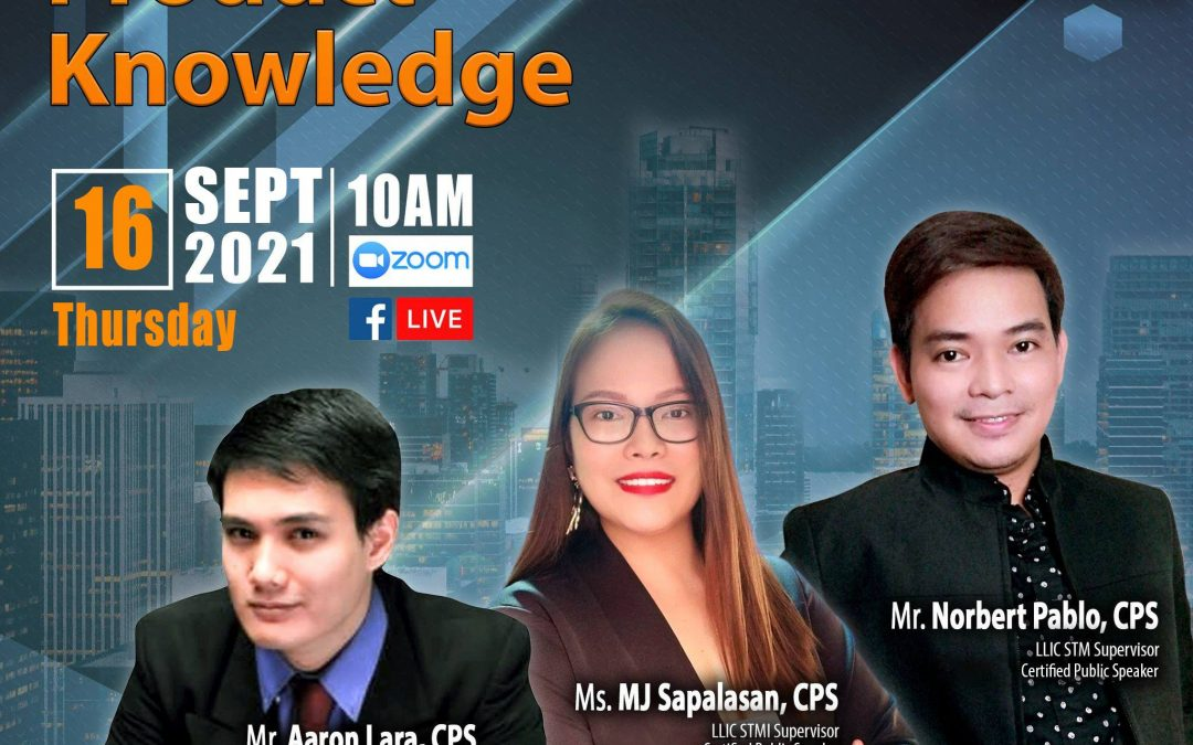 Lueur Lauren Product Knowledge Presentation on September 16, 2021, Thursday, 10:00am via Zoom, Facebook Live and YouTube Live, and meet our  STM Officer Mr. Aaron Lara, and our STM Supervisors, Mr. Norbert Pablo and Ms. Mary Joanne Sapalasan!